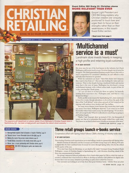 Christian Retailing Cover - 11/1/2011