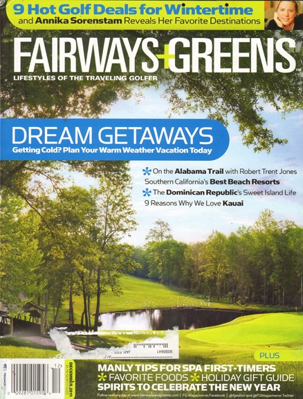 Golf Getaways Cover - 12/1/2011