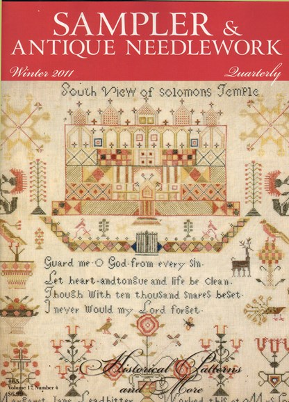 Sampler & Antique Needlework Qtry Magazine Cover - 12/1/2011