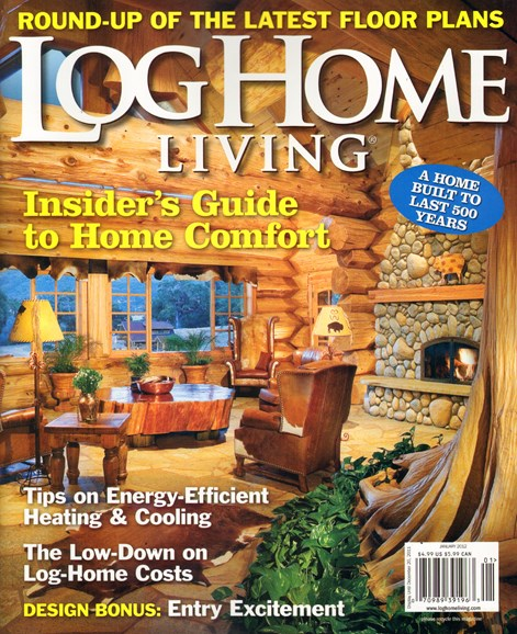 Log Home Living Cover - 1/1/2012