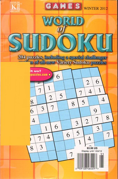 World Of Sudoku Cover - 12/1/2011