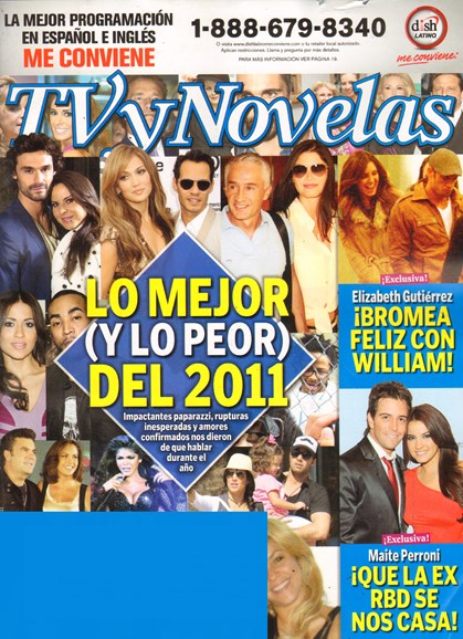 Tv Y Novelas Cover - 12/1/2011