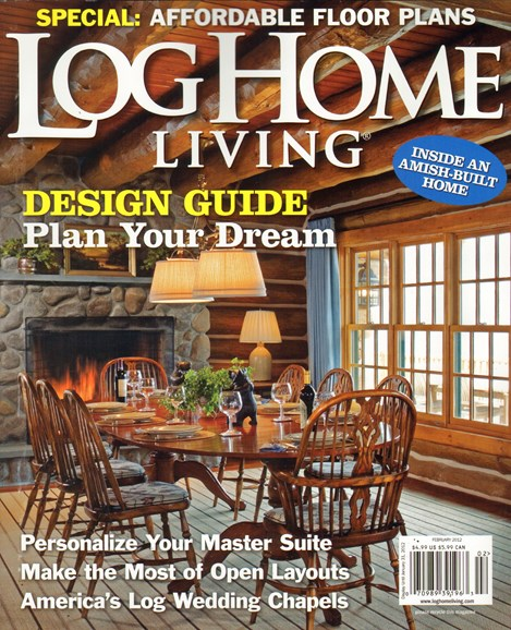 Log Home Living Cover - 2/1/2012