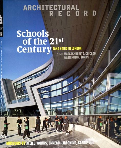 Architectural Record Cover - 1/1/2012