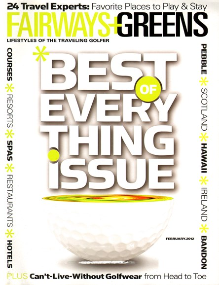 Golf Getaways Cover - 2/1/2012