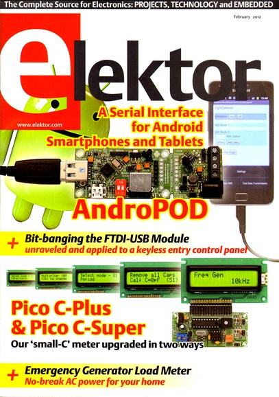 Elektor - North American Edition Cover - 2/1/2012