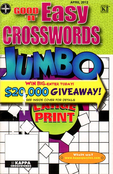 Good N Easy Crosswords Jumbo Cover - 4/1/2012