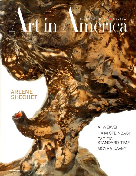Art In America Cover - 1/1/2012