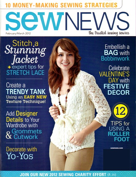 Sew News Cover - 2/1/2012