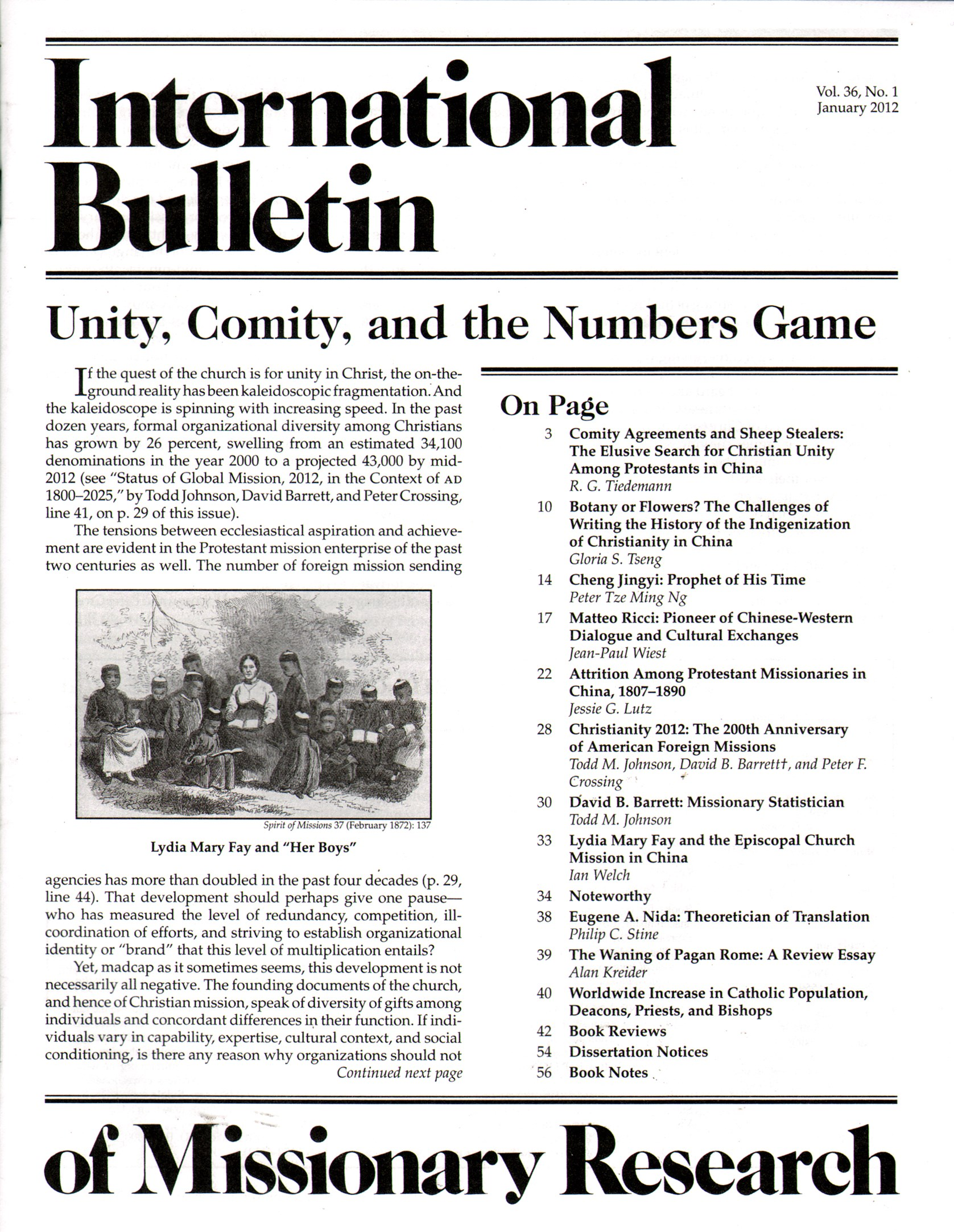 Best Price for International Bulletin of Missionary Research Magazine Subscription