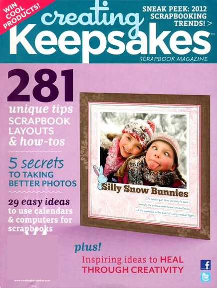 Creating Keepsakes Cover - 1/1/2012