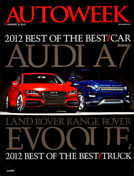 Autoweek Cover - 1/9/2012