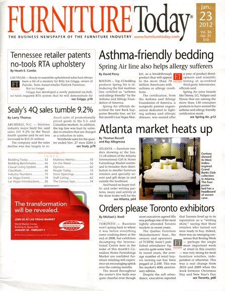 Furniture/Today Cover - 1/23/2012