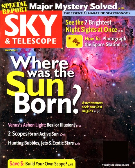 Sky & Telescope Cover - 3/1/2012