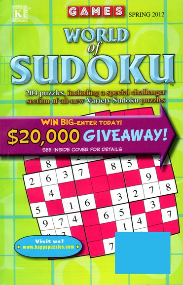 World Of Sudoku Cover - 3/1/2012