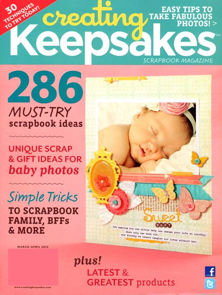 Creating Keepsakes Cover - 3/1/2012