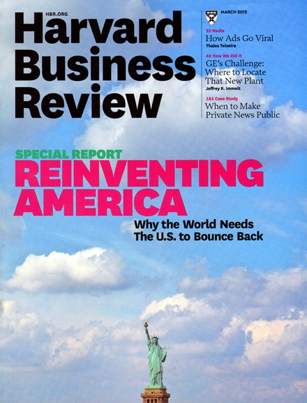 Harvard Business Review Cover - 3/1/2012