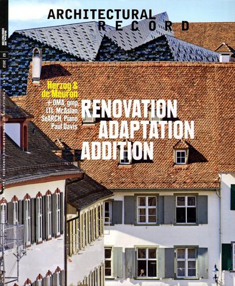 Architectural Record Cover - 2/1/2012