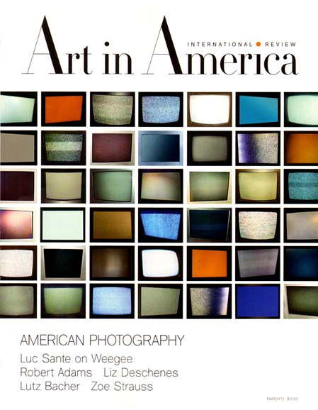 Art In America Cover - 3/1/2012