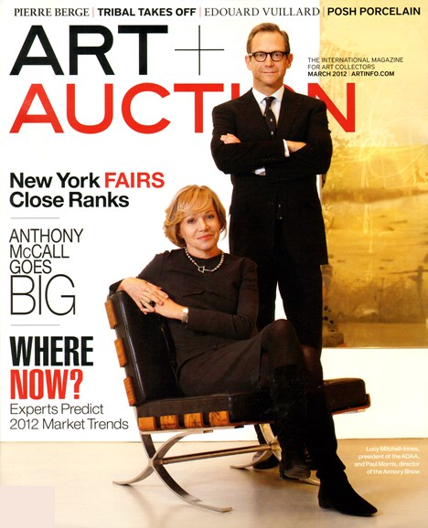 Blouin Art & Auction Cover - 3/31/2012