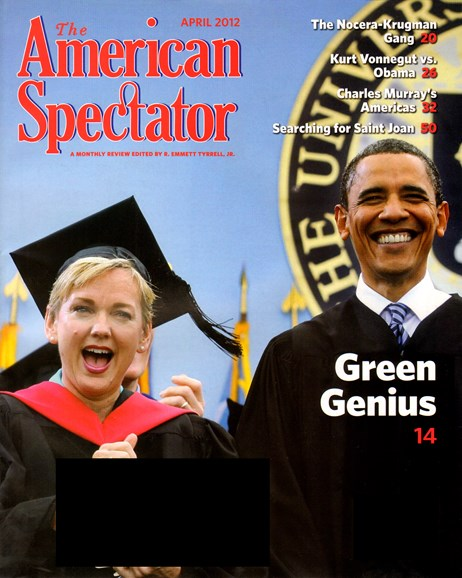 The American Spectator Cover - 4/1/2012