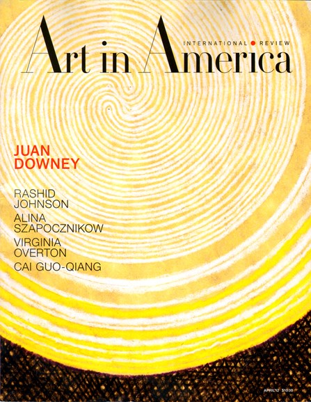 Art In America Cover - 4/1/2012