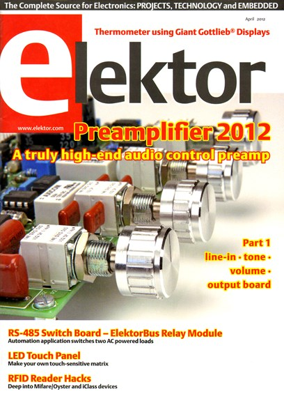 Elektor - North American Edition Cover - 4/1/2012