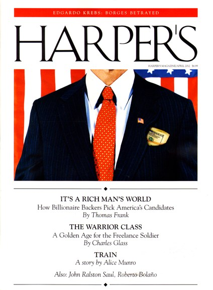 Harper's Cover - 4/1/2012