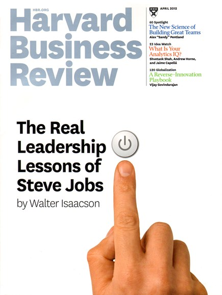 Harvard Business Review Cover - 4/1/2012
