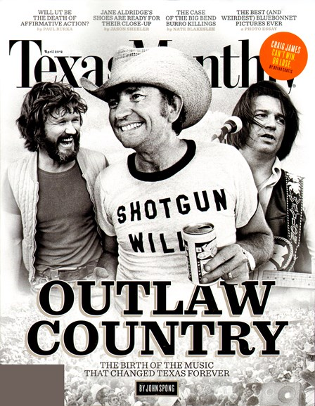Texas Monthly Cover - 4/1/2012
