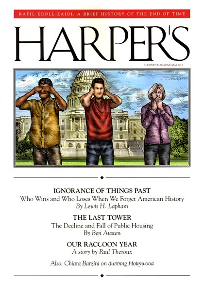 Harper's Cover - 5/1/2012