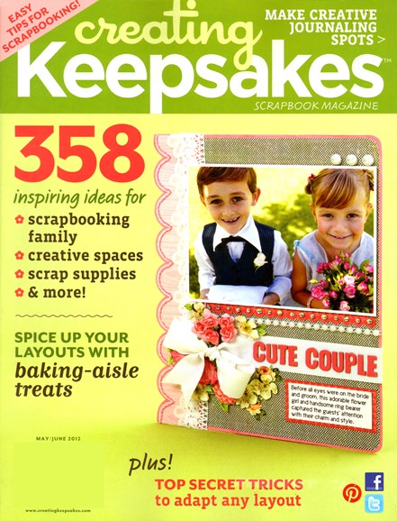 Creating Keepsakes Cover - 5/1/2012