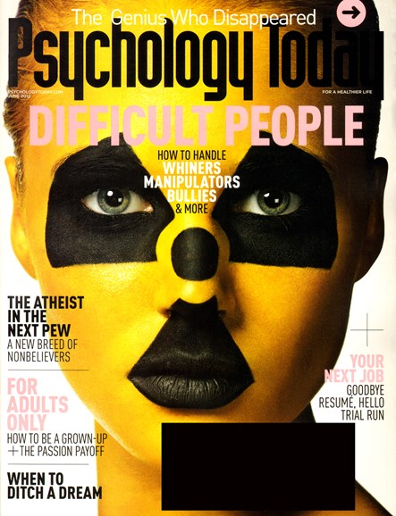 Psychology Today Cover - 6/1/2012