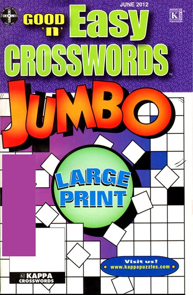 Good N Easy Crosswords Jumbo Cover - 6/1/2012