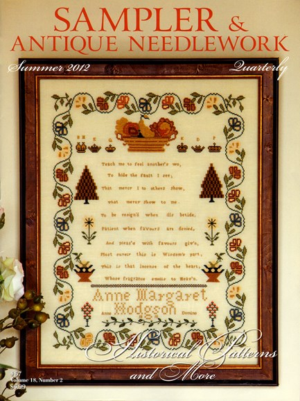 Sampler & Antique Needlework Qtry Magazine Cover - 6/1/2012