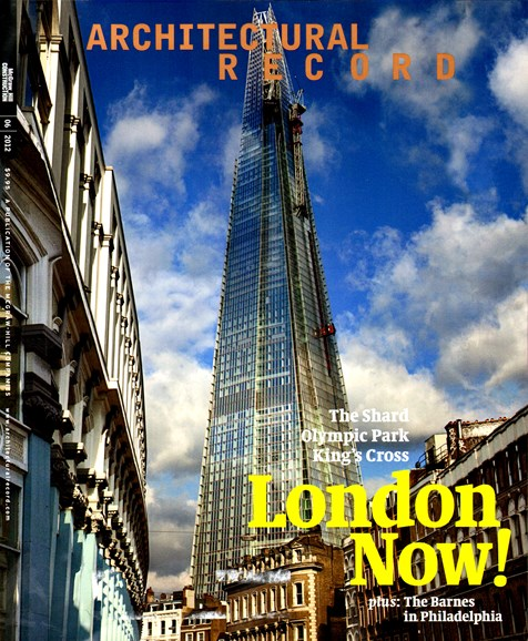 Architectural Record Cover - 6/1/2012