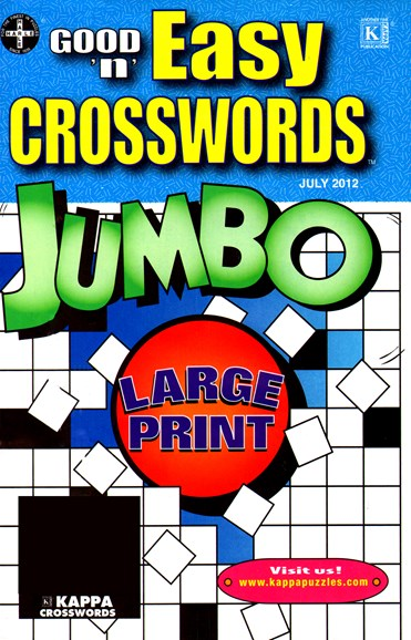 Good N Easy Crosswords Jumbo Cover - 7/1/2012