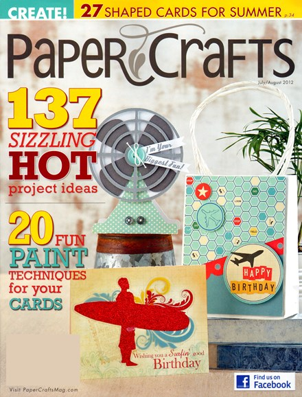 Paper Crafts Cover - 7/1/2012