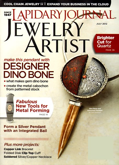 Lapidary Journal Jewelry Artist Cover - 7/1/2012