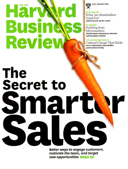 Harvard Business Review Cover - 7/1/2012