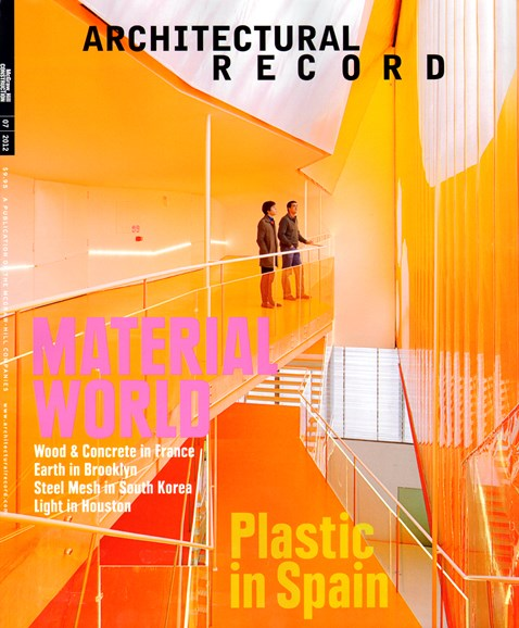 Architectural Record Cover - 7/1/2012