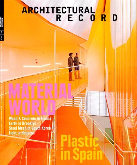 Architectural Record Cover - 7/1/2012