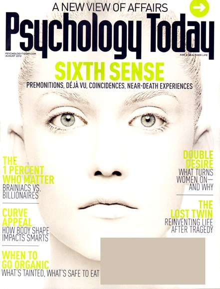 Psychology Today Cover - 8/1/2012
