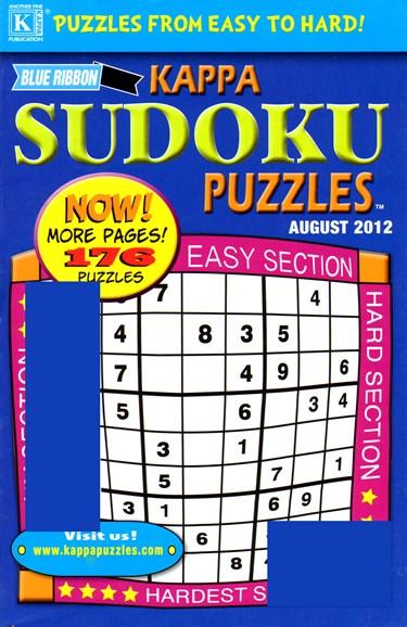 Blue Ribbon Kappa Sudoku Puzzles Cover - 8/1/2012