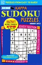 Blue Ribbon Kappa Sudoku Puzzles Magazine 8/1/2012