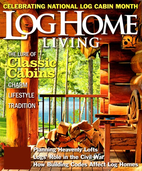 Log Home Living Cover - 8/1/2012