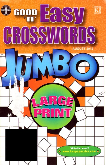 Good N Easy Crosswords Jumbo Cover - 8/1/2012