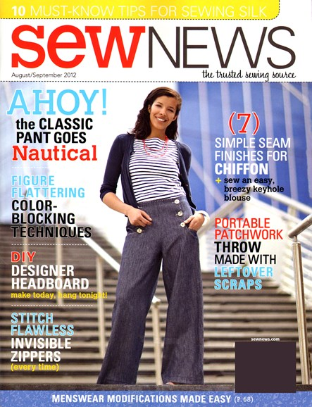Sew News Cover - 8/1/2012