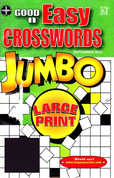 Good N Easy Crosswords Jumbo Cover - 9/1/2012