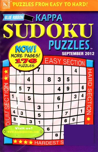 Blue Ribbon Kappa Sudoku Puzzles Cover - 9/1/2012
